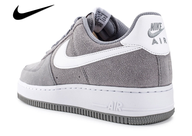 nike air force 1 suede grise femme